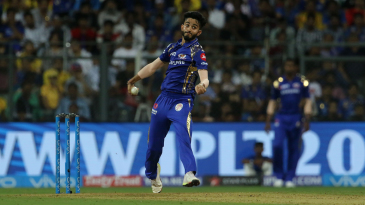 Mayank Markande gets into his delivery stride