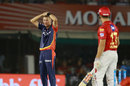 Chris Morris is puzzled after beating Marcus Stoinis, Kings XI Punjab v Delhi Daredevils, IPL 2018, Mohali, April 8, 2018