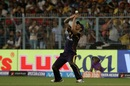 Mitchell Johnson takes a catch to send back AB de Villiers, Kolkata Knight Riders v Royal Challengers Bangalore, IPL 2018, Eden Gardens, April 8, 2018