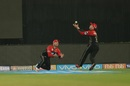 AB de Villiers and Brendon McCullum nearly collided with each other attempting a catch, Kolkata Knight Riders v Royal Challengers Bangalore, IPL 2018, Eden Gardens, April 8, 2018