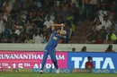 Ben Laughlin takes a catch to send back Wriddhiman Saha, Sunrisers Hyderabad v Rajasthan Royals, IPL 2018, Hyderabad, April 9, 2018