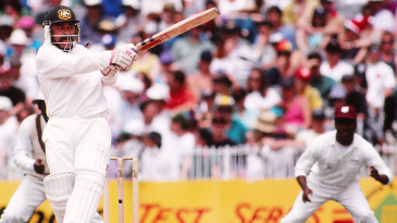 David Boon bats against West Indies