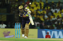 Robin Uthappa offers the full face while driving, Chennai Super Kings v Kolkata Knight Riders, IPL 2018, Chennai, April 10, 2018