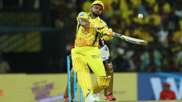 Suresh Raina slices a one into the leg side