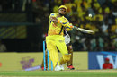 Suresh Raina slices a one into the leg side, Chennai Super Kings v Kolkata Knight Riders, IPL 2018, Chennai, April 10, 2018