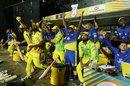 The Chennai dugout reacts to the winning six, Chennai Super Kings v Kolkata Knight Riders, IPL 2018, Chennai, April 10, 2018