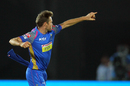 Ben Laughlin is pumped up, Rajasthan Royals v Delhi Daredevils, IPL 2018, Jaipur, April 11, 2018