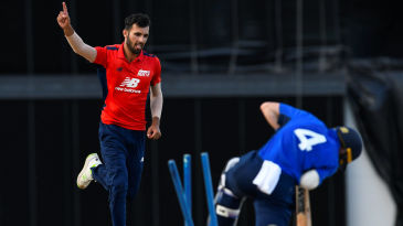Saqib Mahmood took nine wickets in the North v South series
