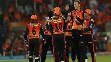 Billy Stanlake celebrates Rohit Sharma's wicket