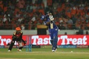 Kieron Pollard struck three fours and two sixes in his 23-ball 28, Sunrisers Hyderabad v Mumbai Indians, IPL 2018, Hyderabad, April 12, 2018