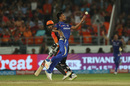 Mustafizur Rahman's delight at a caught-and-bowled, Sunrisers Hyderabad v Mumbai Indians, IPL 2018, Hyderabad, April 12, 2018
