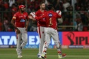 Andrew Tye dismissed AB de Villiers for 57, Royal Challengers Bangalore v Kings XI Punjab, IPL 2018, Bengaluru, April 13, 2018