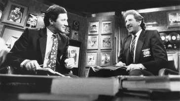 The good old days: Ken Sutcliffe and Max Walker on Channel Nine's <i>Wide World of Sports</i> in 1989