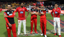 Virat Kohli gestures during the post-match presentation, Royal Challengers Bangalore v Kings XI Punjab, IPL 2018, Bengaluru, April 13, 2018
