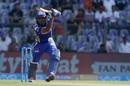 Suryakumar Yadav lays into a drive, Mumbai Indians v Delhi Daredevils, IPL 2018, Mumbai, April 14, 2018