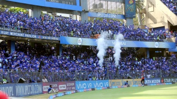 The Wankhede was buried in a sea of blue