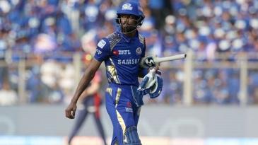 Trent Boult sent Hardik Pandya back for two runs