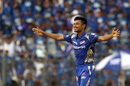 Mustafizur Rahman is delighted after dismissing Gautam Gambhir, Mumbai Indians v Delhi Daredevils, IPL 2018, Mumbai, April 14, 2018