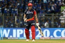 Jason Roy is pumped up after hitting a six in the last over, Mumbai Indians v Delhi Daredevils, IPL 2018, Mumbai, April 14, 2018