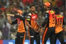Bhuvneshwar Kumar had Uthappa caught behind after a successful review, Kolkata Knight Riders v Sunrisers Hyderabad, IPL 2018, Kolkata, April 14, 2018