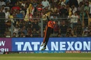 Kane Williamson tries to stop a boundary, Kolkata Knight Riders v Sunrisers Hyderabad, IPL 2018, Kolkata, April 14, 2018