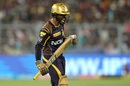 Dinesh Karthik is frustrated after his dismissal, Kolkata Knight Riders v Sunrisers Hyderabad, IPL 2018, Kolkata, April 14, 2018