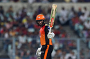 Kane Williamson celebrates getting to a fifty, Kolkata Knight Riders v Sunrisers Hyderabad, IPL 2018, Kolkata, April 14, 2018