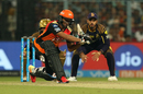 Shakib Al Hasan is the picture of concentration, Kolkata Knight Riders v Sunrisers Hyderabad, IPL 2018, Kolkata, April 14, 2018