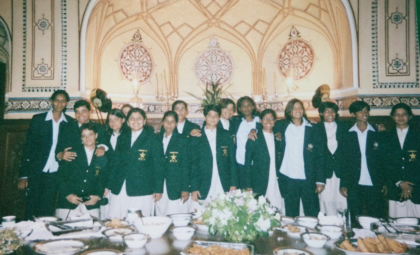 The U-21s at a banquet in Lahore during India's youth tour to Pakistan in 2005