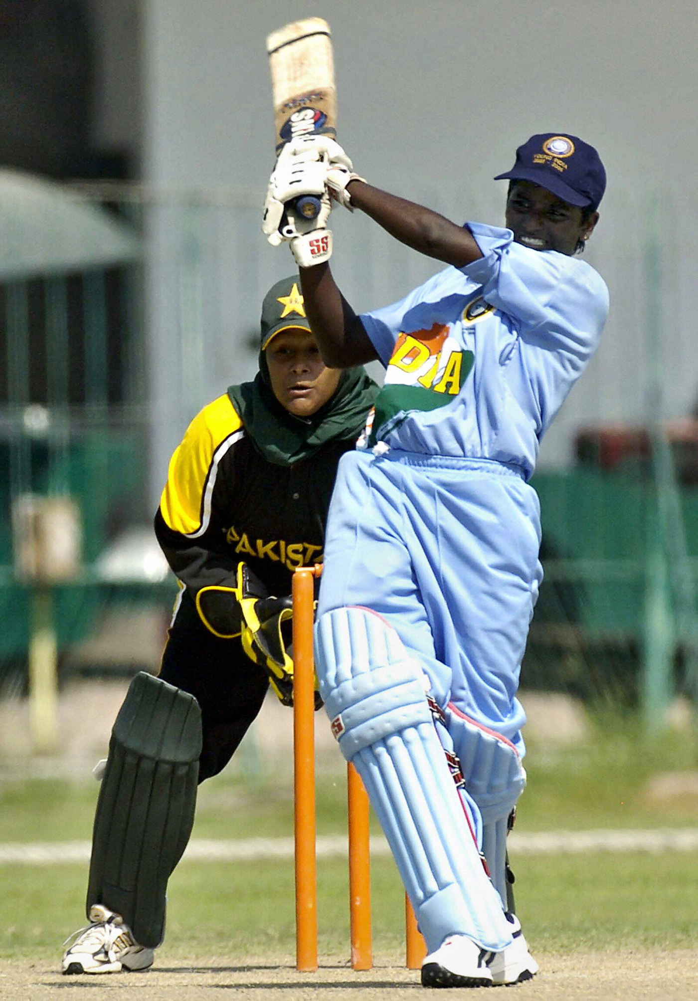 Fifteen-year-old Thirush Kamini on her way to a half-century for India U-21 against Pakistan in Lahore, 2005