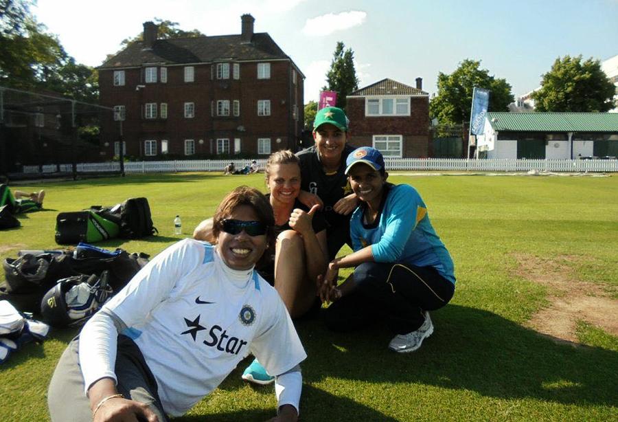 The United Nations of women's cricket: Sana Mir, Shashikala Siriwardene, Jhulan Goswami and Suzie Bates