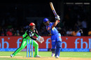 Ajinkya Rahane hits down the ground, Royal Challengers Bangalore v Rajasthan Royals, IPL 2018, Bengaluru, April 15, 2018