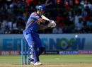 D'Arcy Short lines up to hit the ball, Royal Challengers Bangalore v Rajasthan Royals, IPL 2018, Bengaluru, April 15, 2018