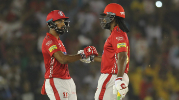 Chris Gayle and KL Rahul put on a rapid opening stand