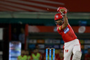 KL Rahul drives into the off side, Kings XI Punjab v Chennai Super Kings, IPL 2018, Mohali, April 15, 2018