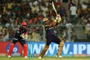 A flat-bat swat from Robin Uthappa, Kolkata Knight Riders v Delhi Daredevils, IPL 2018, April 16, 2018, Kolkata
