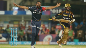 Mohammed Shami requests for Dinesh Karthik's wicket