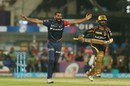 Mohammed Shami requests for Dinesh Karthik's wicket, Kolkata Knight Riders v Delhi Daredevils, IPL 2018, April 16, 2018, Kolkata
