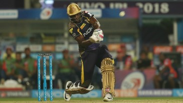 Andre Russell sends one into the stands