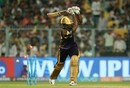 Andre Russell was bowled for a 12-ball 41, Kolkata Knight Riders v Delhi Daredevils, IPL 2018, April 16, 2018, Kolkata