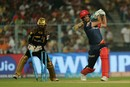 Chris Morris misses an offbreak from Sunil Narine, Kolkata Knight Riders v Delhi Daredevils, IPL 2018, April 16, 2018, Kolkata