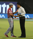 Ricky Ponting and Sourav Ganguly greet each other, Kolkata Knight Riders v Delhi Daredevils, IPL 2018, April 16, 2018, Kolkata