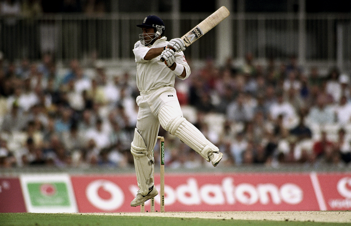 The last, perfect miniature: Ramprakash on his way to his second, and last, Test hundred, against Australia at The Oval in 2001
