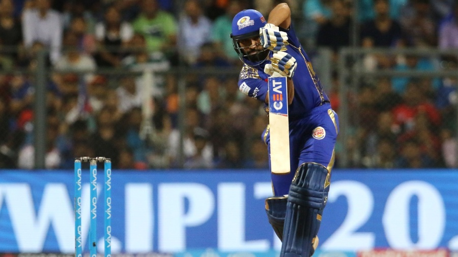 Rohit Sharma plays a picture perfect-drive