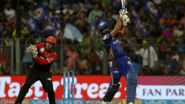 Rohit Sharma goes over the top