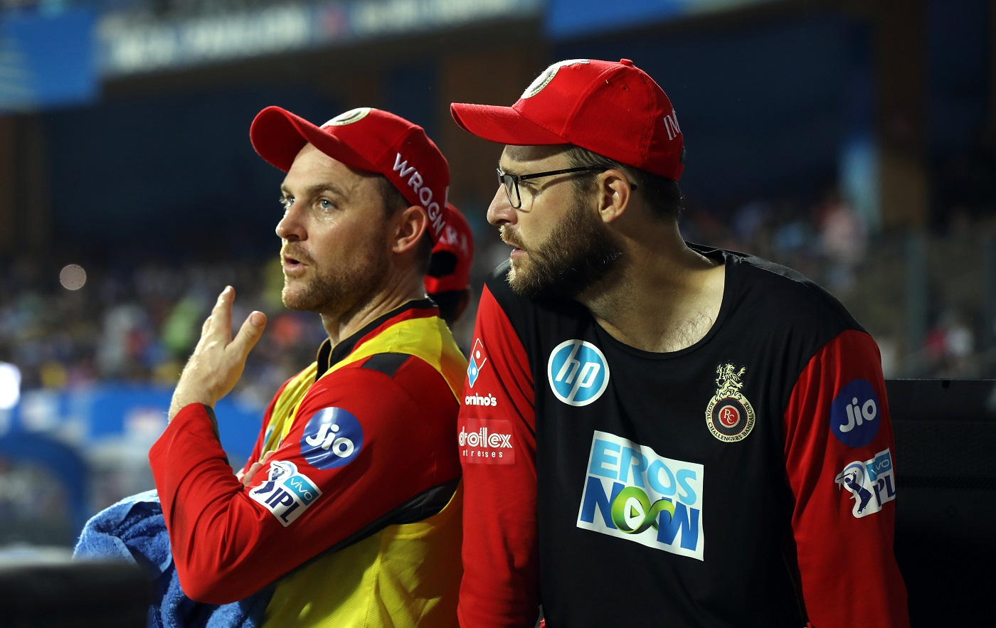 Daniel Vettori (right) is a sought-after coach in T20 leagues around the world, although his win-loss record isn't very impressive