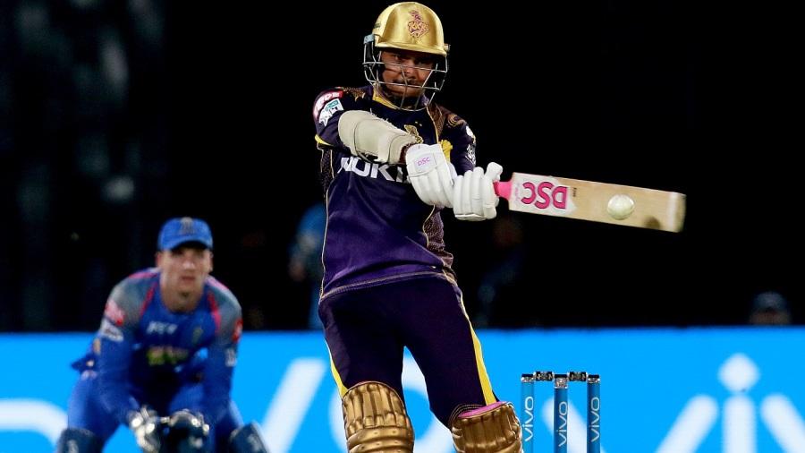 Sunil Narine slashes one