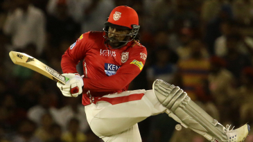 Chris Gayle steers one onto the leg side