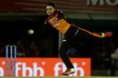 Rashid Khan fields off his own bowling, Kings XI Punjab v Sunrisers Hyderabad, IPL 2018, Mohali, April 19, 2018