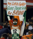 A Yuvraj Singh fan holds a message aloft for the India and Kings XI Punjab allrounder, Kings XI Punjab v Sunrisers Hyderabad, IPL 2018, Mohali, April 19, 2018